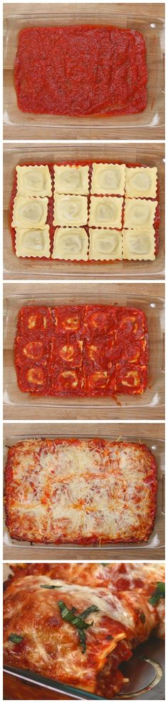 Easy Ravioli Bake - with wheat reduced fat ravioli and reduced fat cheese