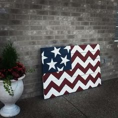 Chevron American flag from pallets