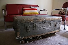 WhisperWood Cottage: 10 Easy Steps to a Carefree Rolling Vintage Trunk