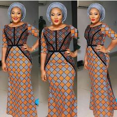Beautiful Ankara Long Gown Styles For Ladies .Beautiful Ankara Long Gown Styles For Ladies African Dresses For Women, African Print Dresses, African Attire, African Wear, African Women, African Prints, African Style, African Fabric, Ankara Long Gown Styles