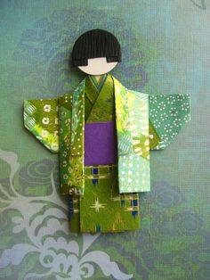 Japanese Chiyogami Paper Doll - Midori | by umeorigami