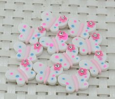 5 Resin Pretty Butterfly Flatback with by creationandsupplies, $2.50