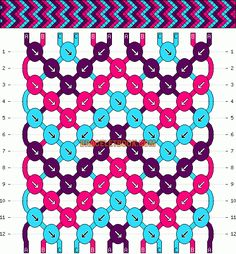 Normal Friendship Bracelet Pattern #4435 - BraceletBook.com