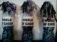 I've made these with different colored beads too...Noise makers for Cheer team.