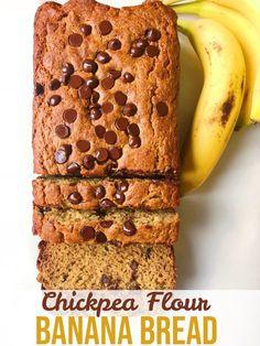 Easy Chickpea Flour Banana Bread - The Dish On Healthy Chickpea Flour Bread, Chickpea Flour Recipes, Flours Banana Bread, Vegan Banana Bread, Best Banana Bread, Chocolate Chip Banana Bread, Banana Bread Recipes, Keto Bread, Vegetarian Recipes