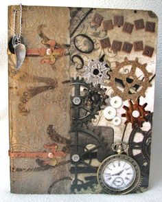 A steampunk journal seems fitting for book signing events and WEATHER WITCH crafting...