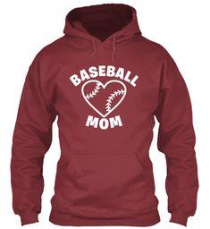 Baseball Mom Shirts 166 Maroon T-Shirt Front