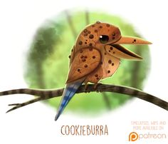 Daily+Paint+1506.+Cookieburra+by+Cryptid-Creations.deviantart.com+on+@DeviantArt