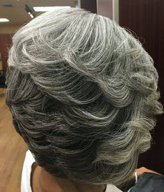 Gray hair achieves stunning results when in the care of stylists who UNDERSTANDS our hair. from - Beauty at any and every age Graceful Silver Grey Hair, White Hair, Hair A, Her Hair, Short Hair Cuts, Short Hair Styles, Salt And Pepper Hair, Great Hair, About Hair