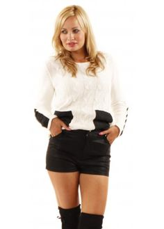 Minkpink High Waisted Black Leatherette Rebel Shorts