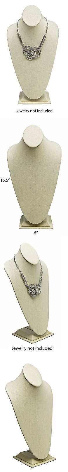Multi-Purpose 168165: Novel Box Beige Linen Necklace Jewelry Display Bust Stand X-Large (15.5X8... New -> BUY IT NOW ONLY: $32.11 on eBay!