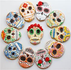 dia de los muertos cookies | Flickr - Photo Sharing!