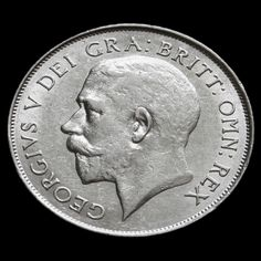 1924 George V Silver Shilling - Rare - GVF