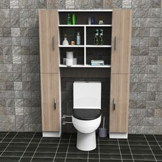 Yurudesign Jimmy Banyo Wc Dolabı Kapaklı Raf - n11.com Wc Bathroom, Bathroom Plans, Bathroom Toilets, Bathroom Shower Curtains, Bathroom Renovations, Toilet Decoration, Bathroom Storage Shelves, Diy Pallet Furniture, Home Decor Bedroom