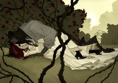 Love Like Blood: The Superb Macabre And Gothic Artworks Of Abigail Larson Gothic Fantasy Art, Fantasy Kunst, Art And Illustration, Beauty And The Beast Art, Abigail Larson, Gothic Artwork, Horror Art, Macabre, Dark Art