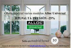 #Oferta #Descuento -25% #tarimaflotante #laminada #Alloc #AllocUniversal #HPL #ALTAPRESION #AC5