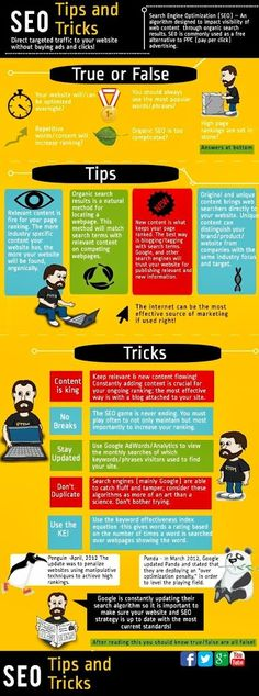 SEO Tips And Tricks #infographic #Enfermático
