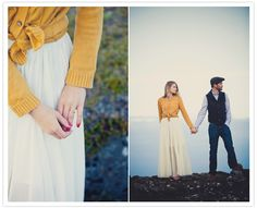 Tying your cardi (when wearing it with a maxi skirt) love this! :)