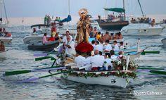 Procesión Virgen de El Carmen, se celebra el 16 Julio( Patrona de los pescadores) Málaga