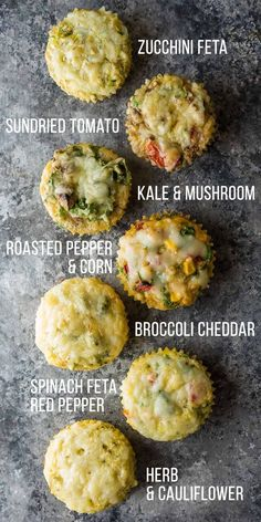 These breakfast egg muffins are a delicious low carb snack or breakfast that you can prep ahead and freeze! 7 vegetable-packed flavor options.