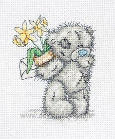 Tatty Teddy - Daffodils cross stitch