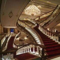 Marvelous staircase at Abdeen palace , Cairo, Egypt