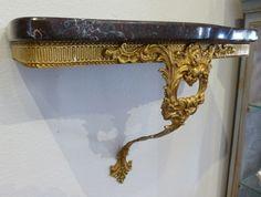 French Gilt Brass Shelf
