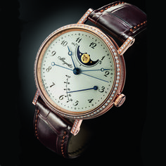 Breguet Classique Moonphase Power Reserve in  18k rose gold.
