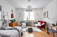 Tiny but creative Scandinavian apartment - Daily Dream Decor