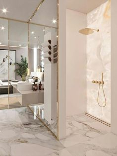 Bathroom decor, Bathroom decoration, Bathroom DIY and Crafts, Bathroom Interior design Luxury Master Bathrooms, Bathroom Design Luxury, Amazing Bathrooms, Luxurious Bathrooms, Master Baths, Bath Design, Master Master, White Bathrooms, Small Bathrooms