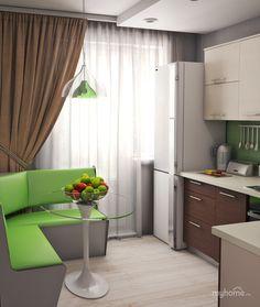 Home Decor Furniture, Home Decor Bedroom, Room Decor, Easy Home Decor, Home Decor Kitchen, Green Interior Design, Interior Design Kitchen, Kitchen Seating Area, Cocina Shabby Chic