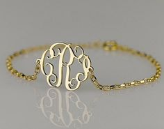 Initial bracelet.
