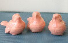 $12 Three Pink Ceramic Birds