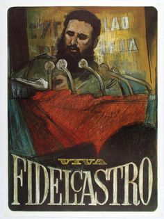 Lot of the Day - Visit http://www.antikbar.co.uk/news_and_events/detail/?nId=181 for information and links to view our catalogue and register to bid at our next Original Vintage Poster Auction on Saturday 22 April. AntikBar.co.uk #FidelCastro
