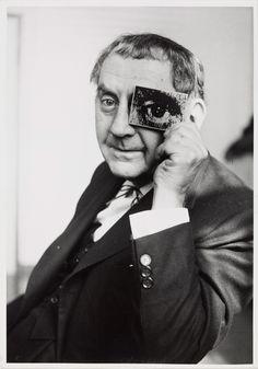 "Man Ray with ""photokina-Auge"", at photokina trade fair 1960 by Charles Fraser."