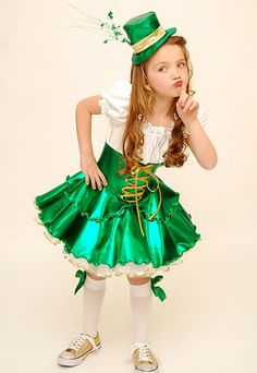#3457 St Patty Hollywood Babe Toddler Pageant Wear St Patrick's Day