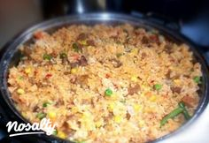 Mexikói rizses hús   Nosalty Fried Rice, Main Dishes, Vegetables, Ethnic Recipes, Food, Main Course Dishes, Entrees, Essen, Main Courses