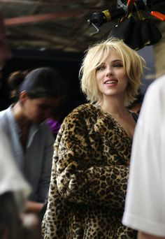 Stunning Scarlett Johansson ... Snappy Hairstyles... A role in A Love Song for Bobby Long (2004) earned Johansson a third Golden Globe for Best Actress nomination.