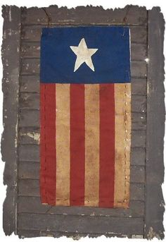 STAR FLAG Country Primitive Americana Sign