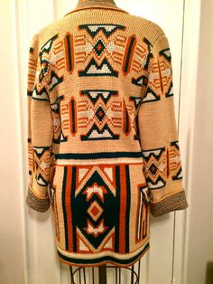 TRIBAL PATTERN Knit Cardigan by andmouse on Etsy