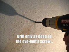 How to install Eye Bolts to hang your hammock indoors