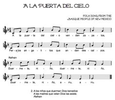 Beth's Music Notes: Lullabies: from New Mexico, great website as a resource for lullaby unit.