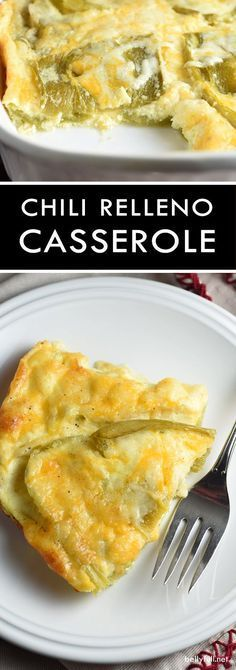 A cheater version of the classic, this Chili Relleno Casserole has layers of gooey cheese and peppers, with puffy clouds of baked eggs on top. So delicious. And crazy simple. Serve it for breakfast, l (Chicken Chili Relleno) Egg Recipes, Brunch Recipes, Mexican Food Recipes, Low Carb Recipes, Breakfast Recipes, Cooking Recipes, Breakfast Ideas, Vegetarian Recipes, Tostada Recipes