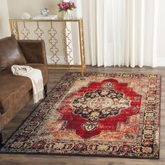 World Menagerie Byron Red Area Rug Rug