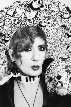 RIP: A Tribute to Anna Piaggi's Inimitable Style: Piaggi in the '70s (Photo: V)