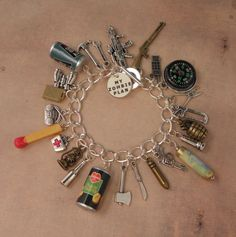 I literally MUST HAVE this. I've Got A ZOMBIE PLAN Charm Bracelet For The Zombie by PlayBox, £18.00