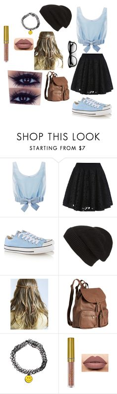"""Untitled #4"" by maddison-nicole ❤ liked on Polyvore featuring Honor, Converse, Phase 3 and H&M"