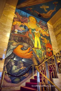 diego rivera mural inside our wedding venue