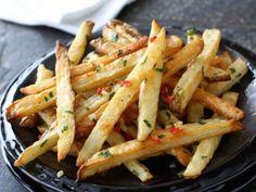 chile pepper and cilantro fries