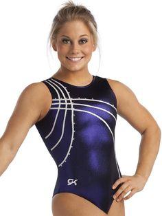 1ddac01a3df4 ZigZag Trim Tank Leotard from GK Elite (Modeled by Shawn Johnson) Gymnastics  Outfits,